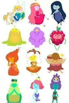 Adventute Time Princesses from the Land Of OOO.