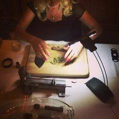 Love and Marij - cigar & joint rolling station - weed wedding