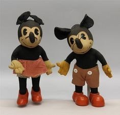 Mickey Mouse Doll, Mickey Mouse And Friends, Disney Mickey Mouse, Disney Princess Facts, Disney Fun Facts, Disney Toys, Disney Movies, Cartoon Characters, Old Toys