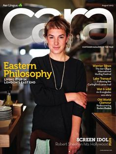 Cara The Aer Lingus in flight travel magazine is published digitally using Issuu and developed by Image Publications Robert Sheehan, Travel Magazines, August 2013, Old World, Hollywood, Glamour, Ireland, Typography, Bathing