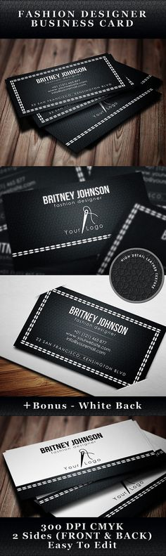 Fashion Designer Business Card Template - Moda