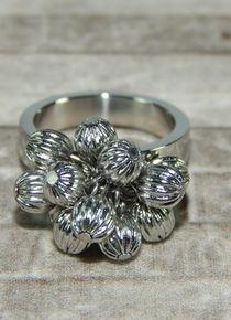 Talla 6 - Anillo de esferas plateadas persa Wedding Rings, Engagement Rings, Bracelets, Silver, Jewelry, Persian, Stainless Steel, Jitter Glitter, Jewelery