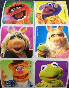 20 Disney Muppets Stickers Party Favors Reward Teacher Supply Kermit Piggy Gonzo | eBay