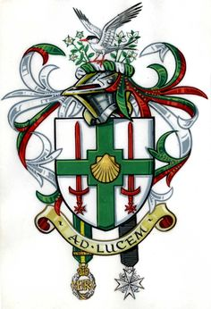 David John James of Scarborough, North Yorkshire, MStJ, ED House Sigil, Family Shield, Family Crest, Coat Of Arms, Medieval, Flag, Symbols, History, Artist