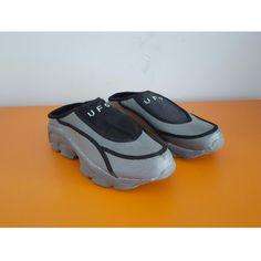 90s UFO Grey Mens Unisex Sandals, check out our depop shop