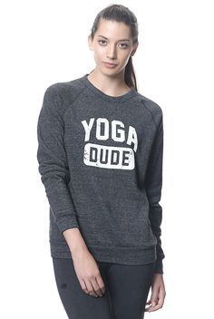 Yogadude Champ Sweat Shirt in Eco Black