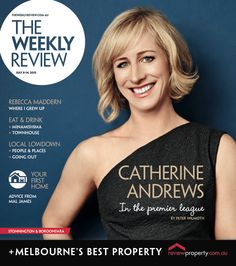 Catherine Andrews for July 8th 2015 Cover.  Photo by Jules Tahan.