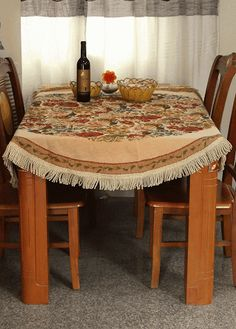 Tache Colorful Floral Country Rustic Morning Meadow Tablecloths