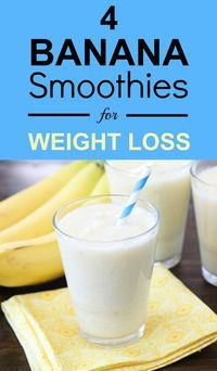 4 Banana Smoothies To Lose Weight - diet drinks - Best Smoothie Recipes Weight Loss Drinks, Weight Loss Smoothies, Healthy Smoothies, Healthy Drinks, Smoothie Recipes, Healthy Food, Stay Healthy, Drink Recipes, Cleansing Smoothies