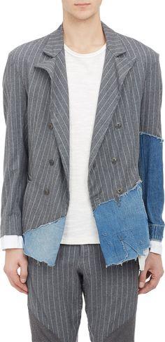 Denim & Chalkstripe Double-Breasted Sportcoat