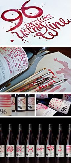 96 Wine, Australia (96 bottles, each with their own wine painted label)