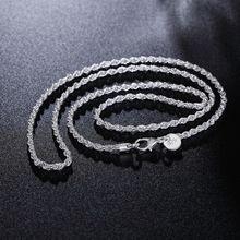 GINSTONELATE 16-24 polegadas cadeia Corda CHEGAM NOVAS venda quente da moda 925 bonito banhado a prata mulheres homens Colar de jóias para pingente(China (Mainland))