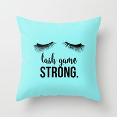 Throw Pillow made from spun polyester poplin fabric, a stylish statement th… Younique, Lash Quotes, Lash Room, Dark Circles Under Eyes, Applying Eye Makeup, Spa Rooms, Fake Eyelashes, Faux Lashes, Colorful Eyeshadow