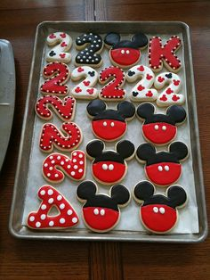 mickey style (do some in pink for a minnie mouse party)