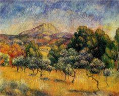 Mount Sainte Victoire - Pierre-Auguste Renoir