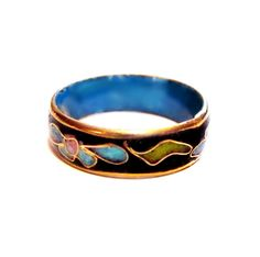 Enamel Ring, Metal Cloisonne Band