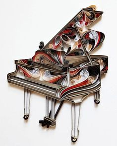 Piano Paper Art Piano Wall Art Piano Home Decor Gift by Gericards