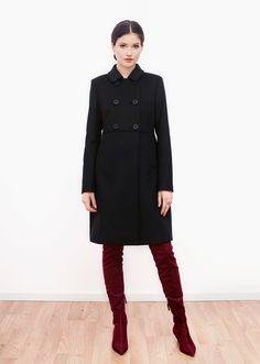 Milan wool coat black. Fall Capsule, Wool Coat, Milan, Jackets, Black, Fashion, Fall Wardrobe, Down Jackets, Moda