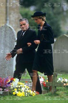 September 3 1986 Diana attends the funeral of Nesta Whiteland, Highgrove Housekeeper, at St Saviour's Church in Tetbury, Gloucestershire Paddy Whiteland's wife Nesta.