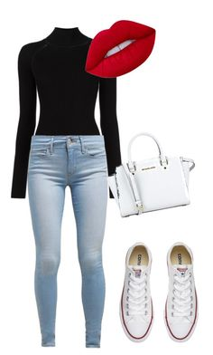 """Untitled #34"" by zerba910 on Polyvore featuring Misha Nonoo, Levi's, Converse, Lime Crime and MICHAEL Michael Kors"