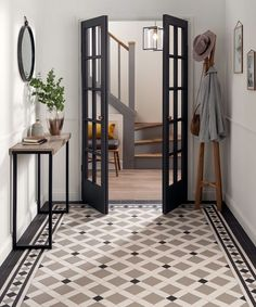 Tile trends 2020 – from Art Deco to new heritage and terrazzo Interior Design Inspiration, Home Interior Design, Hallway Designs, Art Deco Home, Home Trends, Hallway Decorating, Porch Interior Ideas, Edwardian Hallway, Art Deco Tiles