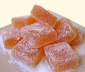 Apple Pate de Fruits -vegan and gluten free, unless there's something in the pectin...