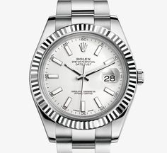 Rolex Datejust II Watch: White Rolesor - combination of 904L steel and 18 ct white gold – M116334-0006
