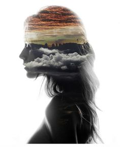woman/skyline