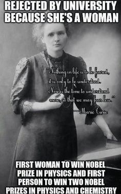 Marie Curie, the epitome of real *WOMAN* power. The power of the woman. Marie Curie, the epitome of real *WOMAN* power. The power of the woman. Great Women, Amazing Women, Women Rights, E Mc2, Mode Blog, Badass Women, Powerful Women, Good People, People Leave