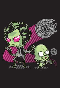 Star Wars meets Invader Zim. Totally bought this shirt.