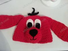 Free Clifford the Red Dog Children's Book Character Hat Crochet Pattern (19)
