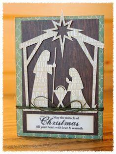 xmas cards nativity silhouette | cut a nativity silhouette on my Silhouette Cameo, using a file from ...