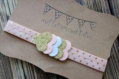 Glitter and felt heart headband baby by muffintopsandtutus