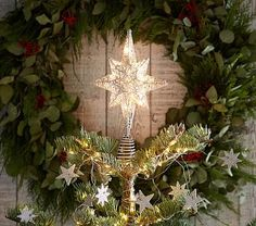 Pottery Barn Kids Light Up Silver Star Tree Topper Lighted Star Tree Topper, Christmas Tree Star Topper, Christmas Tree Trimming, Christmas Bunting, Christmas Lights, Light Up Tree Topper, Harvest Moon, Christmas Decorations For Kids, Kids Christmas