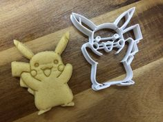Pikachu  Pokemon 3D Printed Cookie Cutter by DepthDesign3D on Etsy