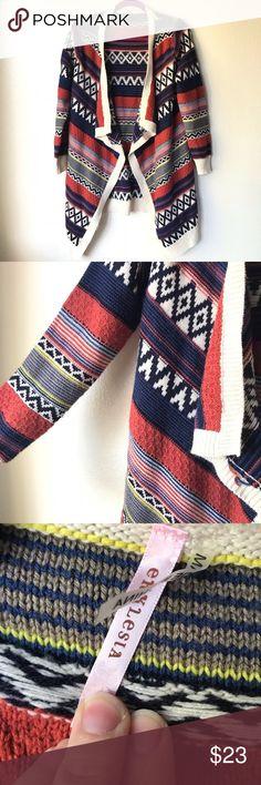 31c506d6e09 Ekklesia Stripped Boho Sweater Cream Black Blue Ekklesia Stripped Boho  Sweater Cream Black Blue Size Small
