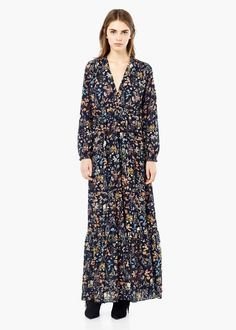 Floral print gown - Dresses for Women   MANGO