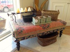 Charmant This Awesome One Of A Kind Rug Ottoman Just Went On Sale For 60% Off. :)