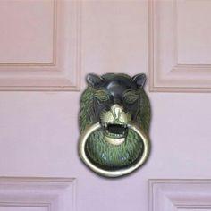 Bronze lion door knocker Lion Door Knocker, Door Knockers, Bronze, Doors, Gate