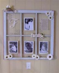 old windows as picture frame