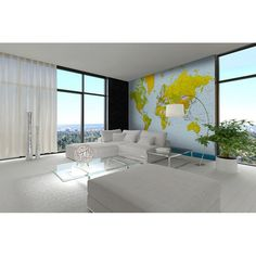 00152 Map of the World – Wall Mural  366 x 254 cm