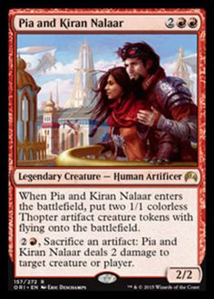 Pia-and-Kiran-Nalaar-x4-Magic-the-Gathering-4x-Magic-Origins-mtg-card-lot-NM
