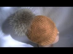 Вязание шапки узором путанка.Knitting hats pattern thread waste - YouTube