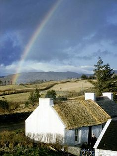 thatched white cottage in Donegal, Ireland; photo by Robert Sisson, National Geographic