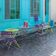 Set di 2 sedie turchesi CONFETTI
