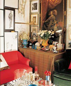 Miles Redd's apartment in college. - Miles Redd's Most Fabulous Rooms, Dujour.