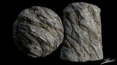 A tiling rock material I made to help blend rock walls into floors. Will be used on a scene I am working on.