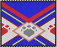 Peyote Stitch Lighter Cover Tutorial Peyote Stitch Patterns, Seed Bead Patterns, Beading Patterns, Beading Ideas, Native American Patterns, Native American Beading, Lighter Case, Bic Lighter, Peyote Patterns
