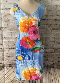 82afd5f0 Details about Jams World Sleeveless Floral Green Hawaiian Maxi Long Dress-  Size Small- EUC