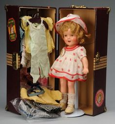 """1116: Ideal Child Star """"Shirley Temple"""" with Trunk. : Lot 1116"""